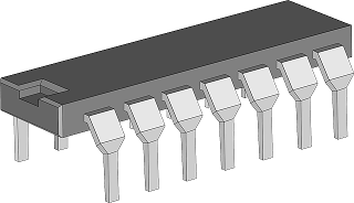 An integrated is a small semiconductor chip on which millions of electronic components such as capacitors, resistors, and transistors are fabricated
