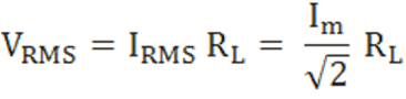 The root mean square (RMS) value of output load voltage in a full wave rectifier is